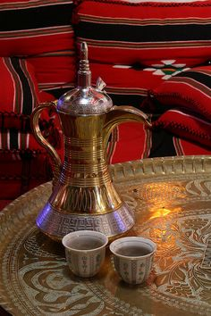 Photo about Traditional pot used for making arabian coffee. Image of dallah, bedouins, bedouin - 4907019 Coffee Latte, Coffee Set, V60 Coffee, Coffee Time, Tea Time, Coffee Cups, Coffee Maker, Chocolate Cafe, Arabic Coffee