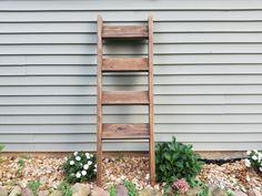 Rustic shabby chic chunky wooden blanket ladder towel by ShamShack