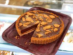 Caramel biscoff pie (dairy free egg free) (vegan)  #cake #cakeshop #thecakeshop #thecakeshoppembroke #vegan #dairyfree #eggfree #biscoff #caramel #pie #biscoffpie #biscuitbase Vegan Products, Free Products, Dairy Free Eggs, Egg Free, Caramel Pie, Biscoff, Vegan Cake, Cake Shop, Gingerbread Cookies
