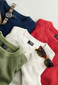 The perfect J.Crew men's sweater. Made from breathable cotton, these are the layers you'll keep wearing into summer.