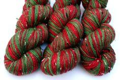Self Striping Sock Yarn Superwash Merino and Nylon by LadybugFiber, $30.00