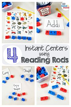 Reading Rods, Word Builders, Alphabet and Phonemic Awareness Linking Cubes for Early Reading & Word Work (Set of Small Group Activities, Spelling Activities, Homeschool Supplies, Homeschool Kindergarten, Literacy Stations, Literacy Centers, Auditory Learning, Picture Cube, Kids Blocks