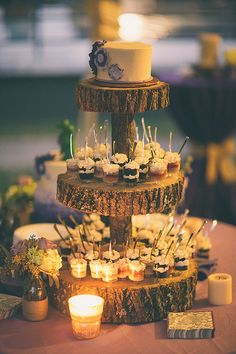 The cake is amazing. You could use small mason jars too! Love it.