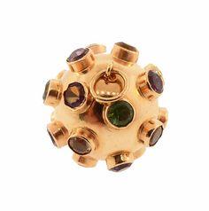 H Stern 18K Gold Multi-Gemstone Sputnik by KensingtonAntiques
