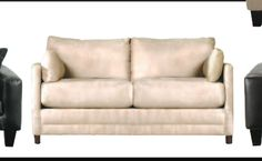 Jennifer Convertibles Softee Full Size Sofabed (Microfiber) $400 - I know 3 people who've had this sofa forever - sturdy, good bones - comes apart in a way that allows to recover - I'm thinking Fuchsia fabric!!! CHECK