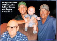 4 Generations - John Strait, George, Bubba Li'l George III George's father John Strait passed away today at age 91 - George Strait Jr, George Strait Pure Country, George Strait Family, Country Music Artists, Country Music Stars, Country Singers, Father John, Country Boys, Country Strong
