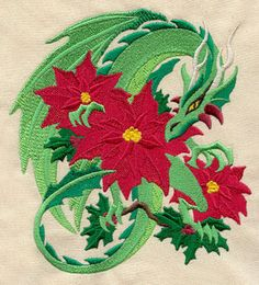 Christmas Magic Dragon | Urban Threads: Unique and Awesome Embroidery Designs