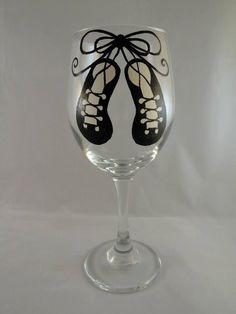Ghillies/Soft Shoe Irish Dance Wine Glass by BrittanyShaye on Etsy, $17.00