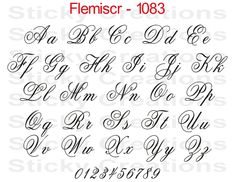 How to Draw Fancy Letters | Lettering tattoo and Fonts
