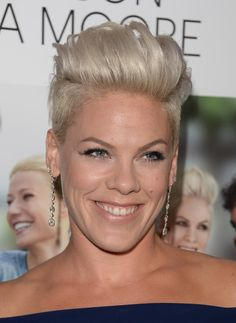 Short Hairstyles Lookbook: Pink wearing Fauxhawk (9 of 56). Pink sported a funky fauxhawk when she attended the 'Thanks for Sharing' premiere.