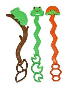 """Melissa & Doug Backyard Buddies Wand Set by Melissa & Doug. $7.09. From the Manufacturer                Three critter-themed bubble wands add """"character"""" to bubble play. Grab a wand with Verdie Chameleon, Froggy or Tootle Turtle, dip it into the bubble solution and blow or wave to create delightful bubbles.                                    Product Description                Great fun for an afternoon actvity. Appropriate for 3 and up.. Save 21%!"""