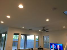 Living Room Recessed Lighting az recessed lighting installation | family living room kitchen