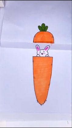 美术课 Drawing Tutorial Rabbit hiding in a carrot Schule CARROT Drawing hidi. - 美术课 Drawing Tutorial Rabbit hiding in a carrot Schule CARROT Drawing hiding Rabbit Schule de - Art Drawings For Kids, Easy Drawings, Art For Kids, Funny Drawings, Diy Crafts Hacks, Diy And Crafts, Crafts For Kids, Recycled Crafts, Wood Crafts