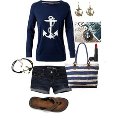 """Nautical"" by pineconequeen on Polyvore"