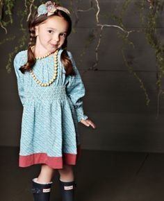 Loving this Matilda Jane dress! Perfect with chunky yellow necklace & lace up boots.