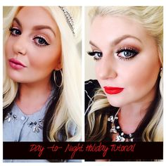 DAY TO NIGHT HOLIDAY TUTORIAL   LIPS, LASHES & LINER