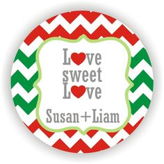 Love Sweet Love  Christmas Wedding Labels  by MMGraphicDesigns, $30.00