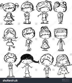 Figure Di Persone Stilizzate.29 Fantastiche Immagini Su Bambini Stilizzati Nel 2019 Doodle