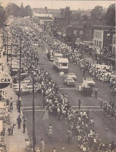 June 25, 1973. The Manchester Sesquicentennial Parade coming down Main Street.