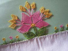 İğne Oyası Bahar Çiçeği Yapılışı-  How to Turkish needle lace ''Spring flower''