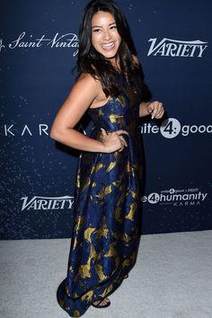Gina Rodriguez Accepts a Major Humanitarian Award With Her Signature Smarts and Style