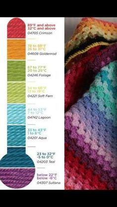 2016 temperature afghan crochet along Crochet Crafts, Crochet Projects, Free Crochet, Knit Crochet, Sewing Crafts, Crochet Blanket Patterns, Crochet Stitches, Knitting Patterns, Crochet Blankets