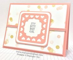 Itty Bitty Baby, Stampin' Up!, Brian King - video in post showing how to create the punched focal image.