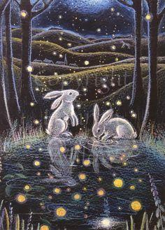 Lapin Art, Art And Illustration, Woodland Illustration, Rabbit Art, Bunny Art, Fairytale Art, Whimsical Art, Woodland Art, Fairy Art