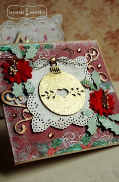 Chipboard, Ink, Ornaments, Cards, India Ink, Christmas Decorations, Maps, Playing Cards, Ornament