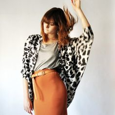 animal prints work great with fall colors