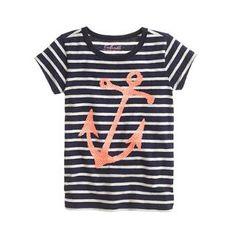 Girls' stripe sequin anchor  J.Crew