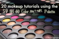 20 Makeup Tutorials using the $9 Day and Night Palette from BH Cosmetics