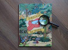 """Książka z kryjówkami – """"Dinozaur na tropie"""" Sophie Guerrive – Dżin z tomikiem"""