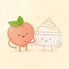 I got Peach and Cream! Which Adorable Food Pair Are You And Your Best Friend?