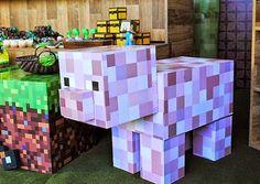Hoje tem Festa Minecraft, esta decoração foi para comemorar o aniversário de uma menina e um menino.Muitas fofuras por aqui!!Imagens Imagine Scrap.Lindas ideias e muita inspiração.Bjs, Fabíol...