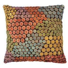 Mosaic Beads Wood Cushion now featured on Fab.