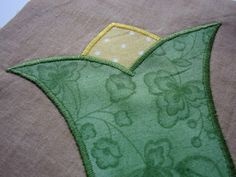 Satin stitch detail