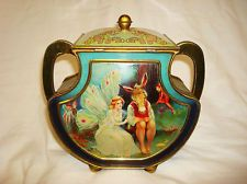 1912s Vintage rare Shakespaere Figural Huntley and Palmers Biscuit tin