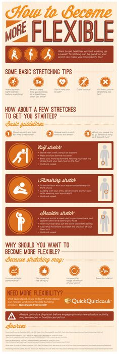 How To Become More Flexible #Infographic #Health