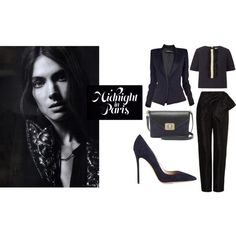MIDNIGHT IN PARIS by vanessaeale on Polyvore featuring mode, Orla Kiely, Alexandre Vauthier, Isa Arfen, Gianvito Rossi and Mulberry