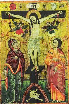 Crucifixión  49,5 x 34 cm. Siglo XVIII