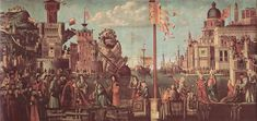 1498 The Meeting of Etherius and Ursula and the Departure of the Pilgrims - Vittore Carpaccio