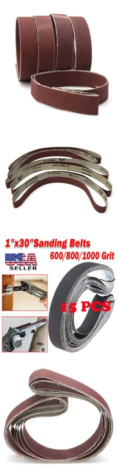 """1-1//2/"""" x 30/"""" Inch Aluminum Oxide Pipe and Tube Sanding Belts 600 Grit 10 PACK"""