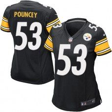 NFL Womens Limited Nike Nike  Pittsburgh Steelers #53 Maurkice Pouncey Team Color Black Jersey