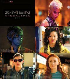 Storm, Nightcrawler, Jubilee, Cyclops & Jean Grey