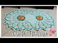 TAPETE ROMANCE EM CROCHÊ PARTE I /DIANE GONÇALVES - YouTube Free Crochet, Knit Crochet, Crochet Hats, Crochet Mandala, Crochet Doilies, Crochet Table Mat, Crochet Videos, Crochet Designs, Vintage Prints