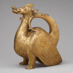Aquamanile in the Form of a Dragon, ca. 1200  North German  Copper alloy    8 3/8 x 4 3/8 x 7 3/16 in. (21.2 x 11.1 x 18.2 cm)  The Cloisters Collection, 1947 (47.101.51)