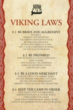 I really like this because it's like how a family should work. Viking family, hell yeah!