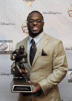 Trent Richardson accepting the 2011 Doak Walker Award representing the nation's top running back