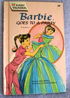 BARBIE 1964 GOES TO A PARTY-My book I earned in 2nd Grade for reading all of Pippi Longstocking!